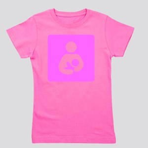 Breastfeeding Symbol [Pink] Girl's Tee